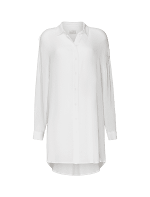 AVENUE TROPICALE MERIDAN SHIRT AT BASIC, WHITE