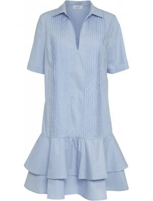 NORR SHELLY DRESS, LIGHT BLUE