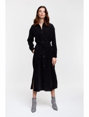 ALIX THE LABEL LADIES WOVEN RIBCORD SHIRT DRESS