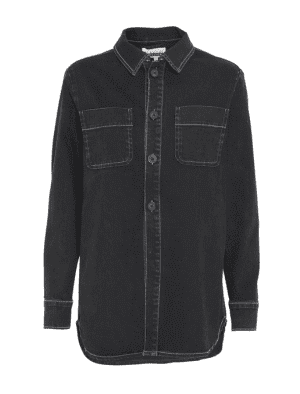 BLANCHE ANURA SHIRT SHIRTS UN BLACK DENIM