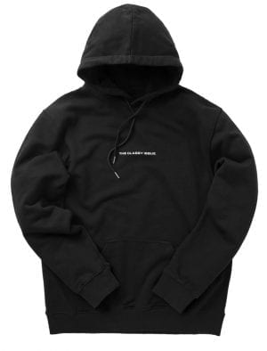 THE CLASSY ISSUE LOGO HOODIE WASHED BLACK