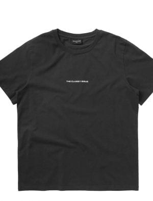 THE CLASSY ISSUE LOGO TEE WASHED BLACK