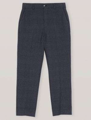 GANNI PANTS NAVY/STRIPE