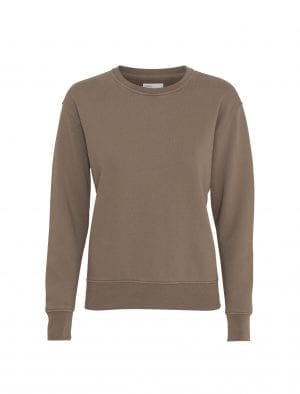 COLORFUL STANDARD WOMEN CLASSIC ORGANIC CREW WARM TAUPE