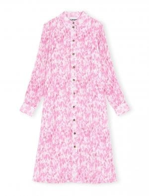 GANNI SHIRT DRESS PINK
