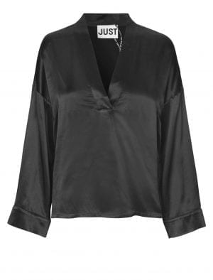 JUST ARGAN BLOUSE BLACK