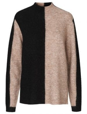 JUST COBRA KNIT BLACK/NUDE MIX