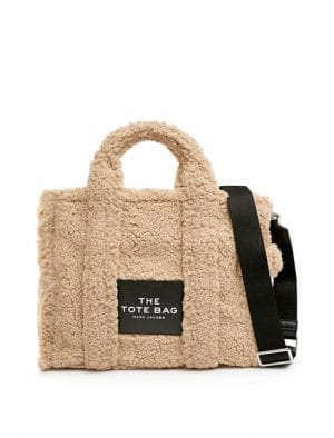 MARC JACOBS THE TEDDY TOTE BAG SMALL BEIGE