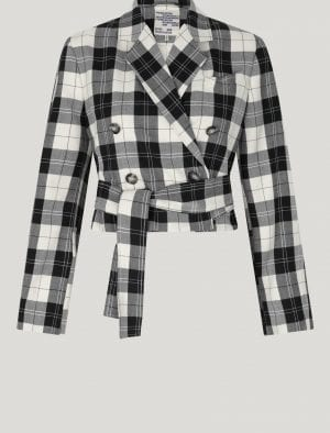 BAUM BLAYN CREAM BLACK CHECK