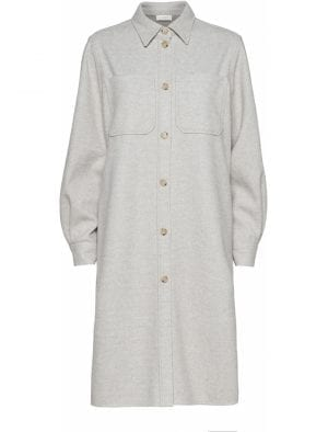NORR HELIA LONG SHIRT IVORY