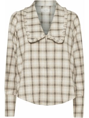NORR REESE SHIRT BEIGE CHECK