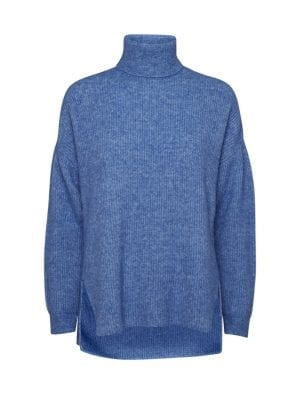 NORR NORDBY ROLL NECK DUSTY BLUE