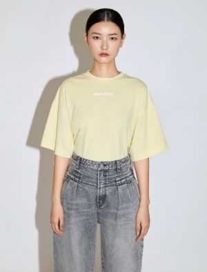 MISS SIXTY YELLOW COTTON T-SHIRT
