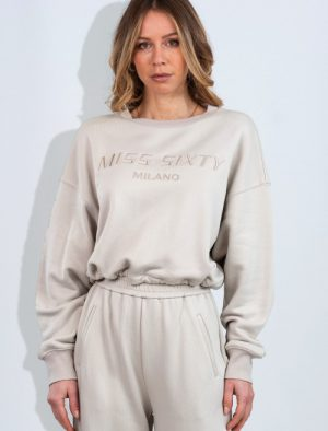 MISS SIXTY BEIGE COTTON SWEATSHIRT
