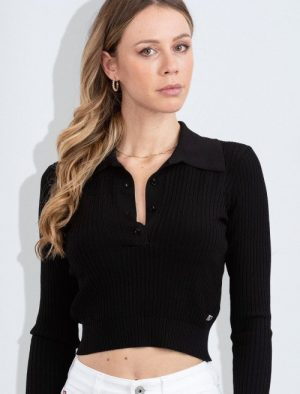 MISS SIXTY BLACK RIBBED TOP