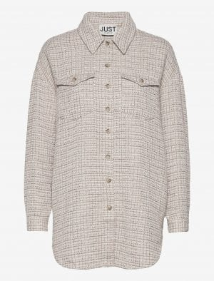 JUST FEMALE METZ SHIRT ICE GREY STONE MIX