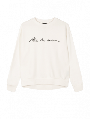 ALIX THE LABEL SWEATER WHITE