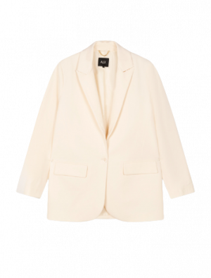 ALIX THE LABEL OVERSIZED STRETCH BLAZER CREAMY WHITE