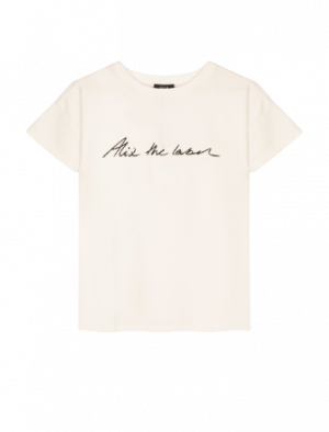 ALIX THE LABEL T-SHIRT SOFT WHITE