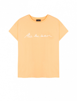 ALIX THE LABEL T-SHIRT LIGHT SALMON