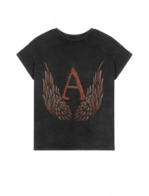 ALIX THE LABEL WINGS T-SHIRT BLACK