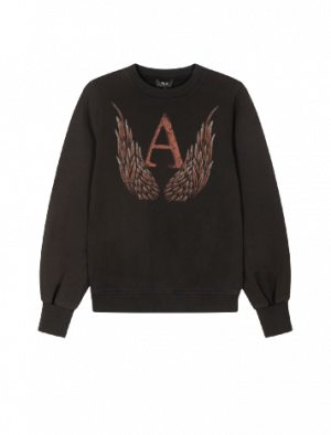 ALIX THE LABEL WINGS SWEATER BLACK
