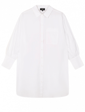 ALIX THE LABEL OVERSIZED A LONG BLOUSE WHITE