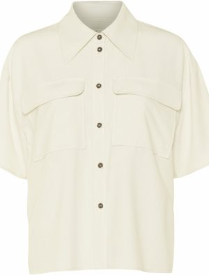 NORR RAYES SS SHIRT OFF WHITE