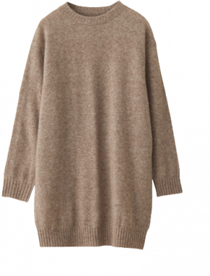 NORR NORDBY KNIT DRESS LIGHT BROWN