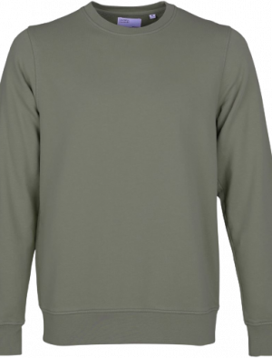 COLORFUL STANDARD CLASSIC ORGANIC CREW DUSTY OLIVE
